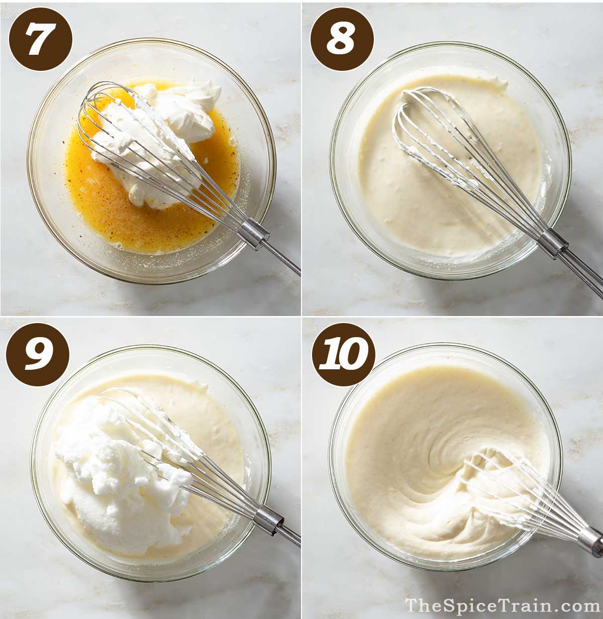 Mousse preparation in four steps.